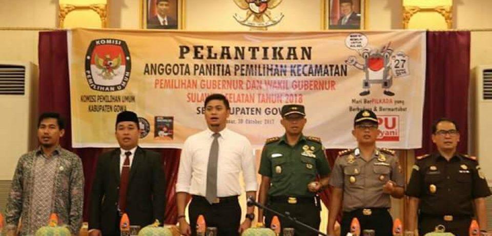 Adnan Hadiri Pelantikan PPK Se-Kabupaten Gowa