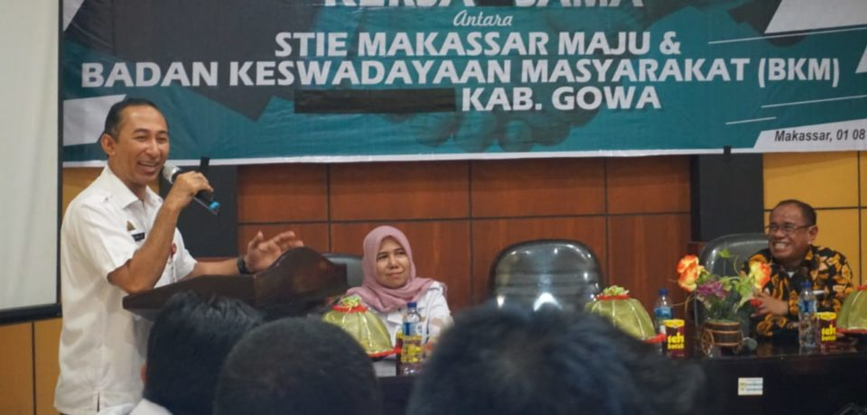 5 BKM di Gowa Jalin Kerjasama Dengan STIE Makassar Maju