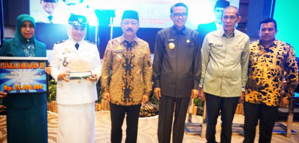 Gowa Kembali Raih Penghargaan Dilomba Desa Tingkat Provinsi