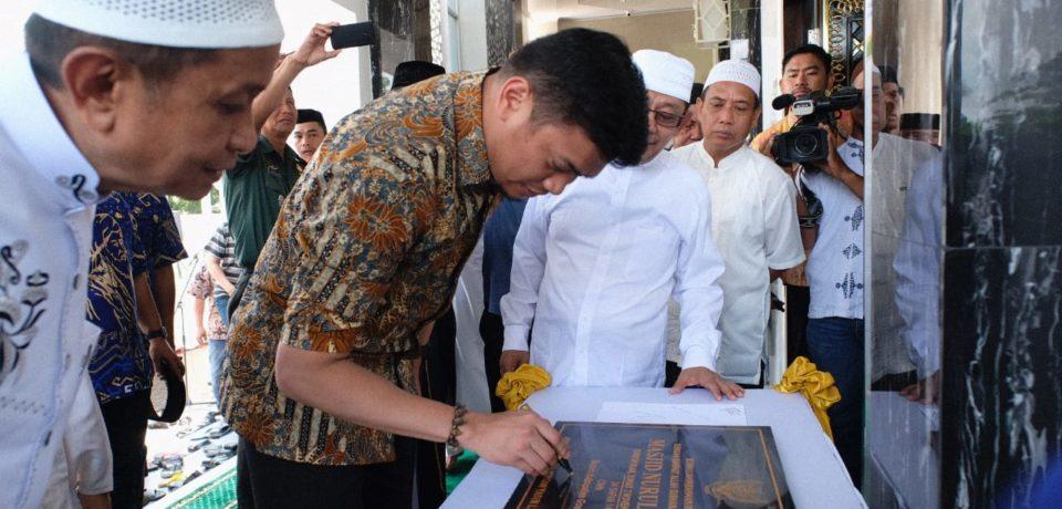 Resmikan Masjid Nurul Yusuf, Adnan Harap Masyarakat Makmurkan Masjid