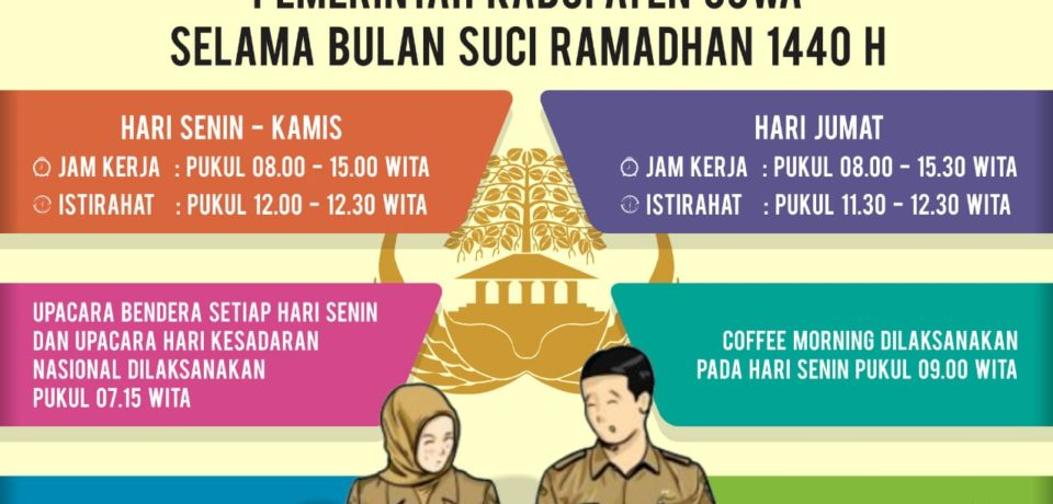 Ini Jam Kerja ASN Selama Ramadhan