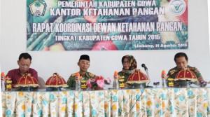 Sekda Gowa, H Muchlis membuka secara resmi Pertemuan Dewan Ketahanan Pangan Kabupaten Gowa Tahun 2015. -foto/humas-