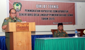 Pelatihan Sekdes Lingkup Pemkab Gowa