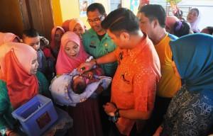 Pencanangan PIN Polio di Manuju