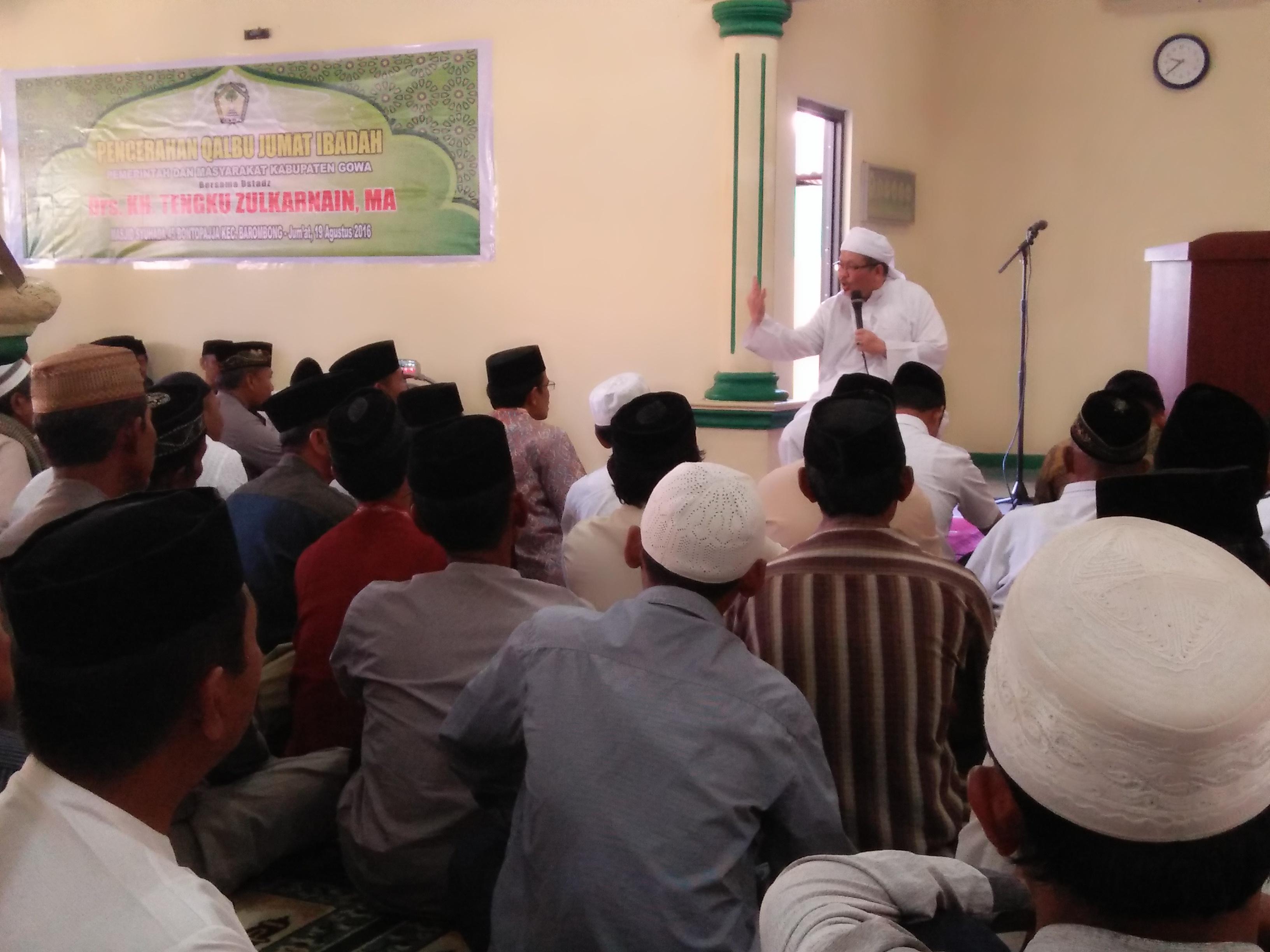 Tengku Zulkarnain Apresiasi Jum'at Ibadah di Gowa