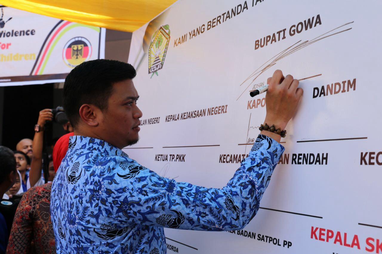 Adnan Launching Gerakan Anak Agen Perubahan dan Gowa Kabupaten Layak Anak
