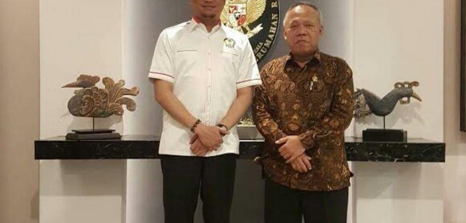 Adnan Temui Menteri PU Bahas Bendungan Karaloe dan Pelebaran Jalan