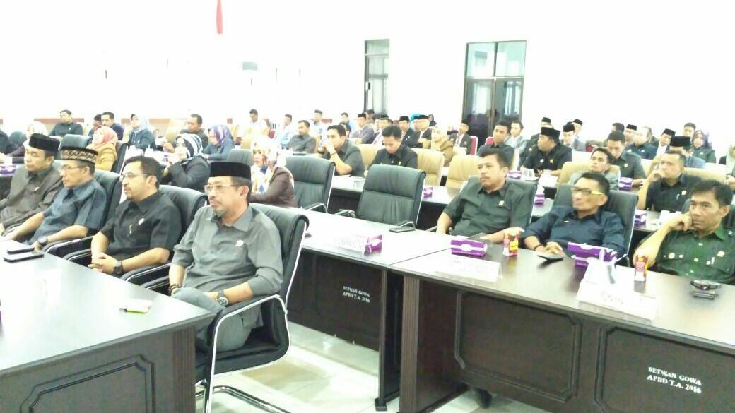 Bupati Tanggapi Dua Buah Ranperda Inisiatif DPRD Gowa
