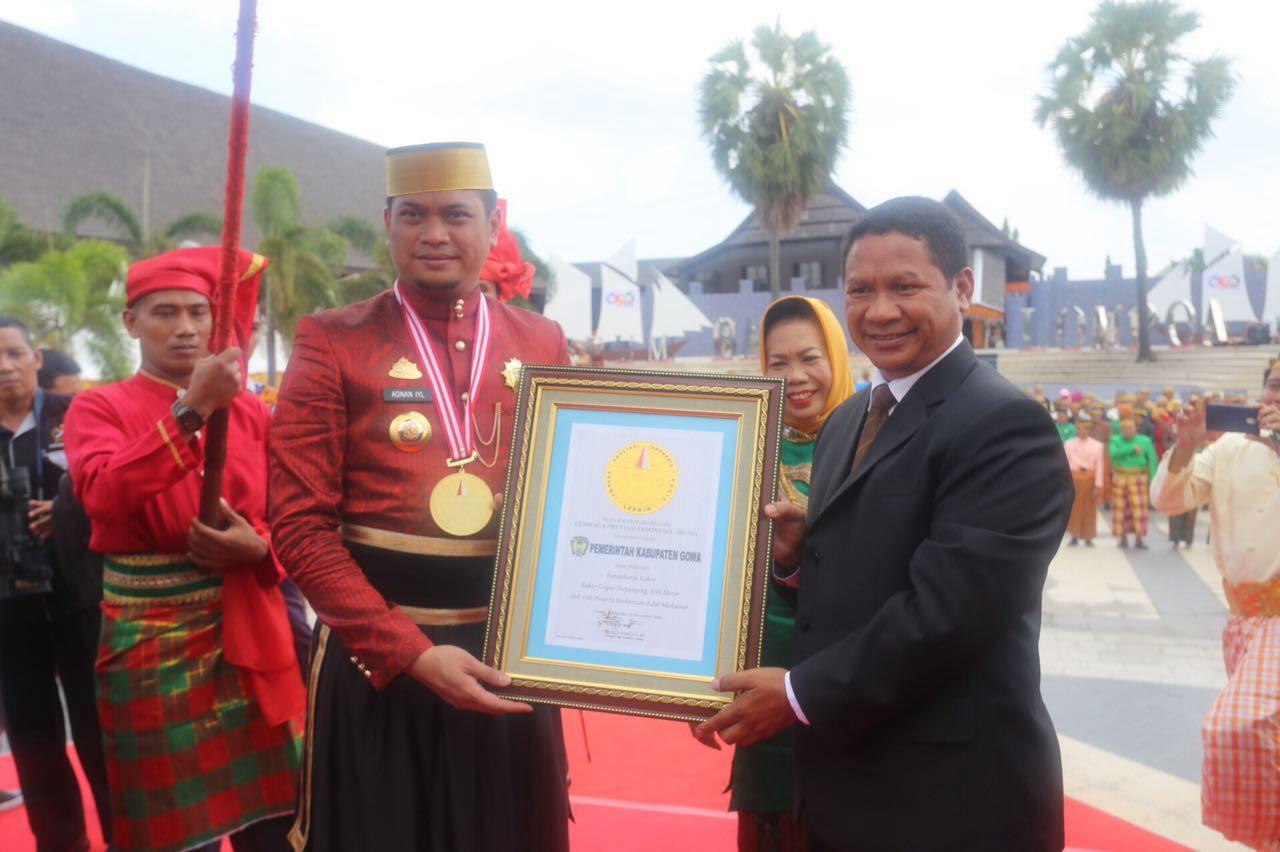 Hari Jadi Gowa Ke-696 Bertabur Penghargaan