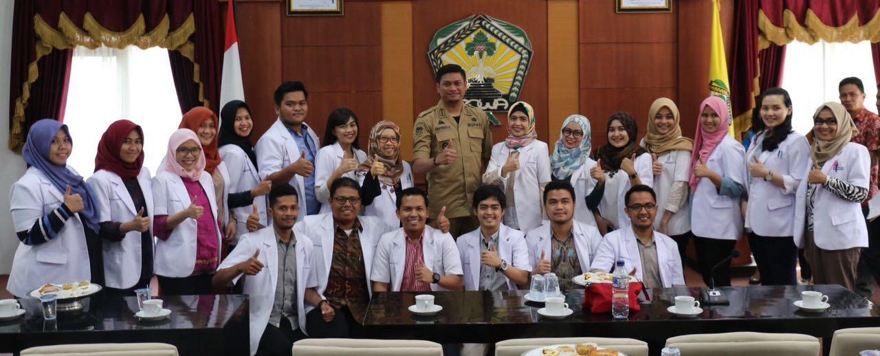Bupati Terima Rombongan Program Intensif Dokter Indonesia