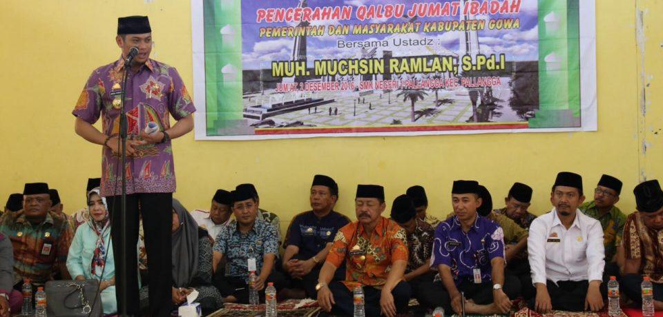 Adnan Jum'at Ibadah Bersama Pelajar di SMKN 1 Pallangga