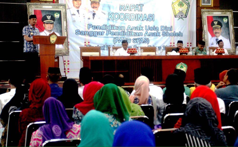 Bupati Rakor Bersama Ratusan Pengelola PAUD SPAS Se-Kabupaten Gowa