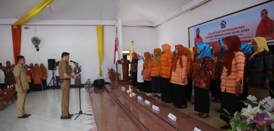 Bupati Lantik 54 Orang Pengurus Himpunan Lansia Sayang Bunda