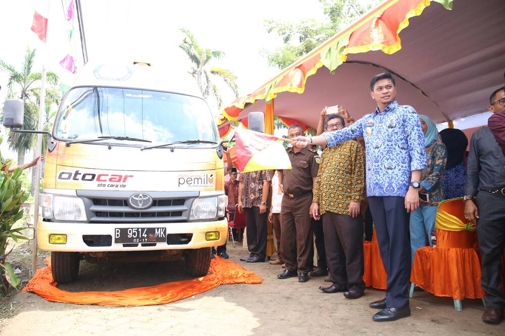 KPU Gowa Launching 2 Unit Mobil Pintar Pemilu