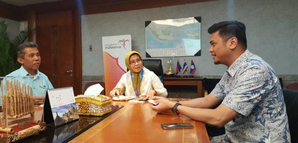 Adnan Perkenalkan Beautiful Malino di Kementerian Pariwisata