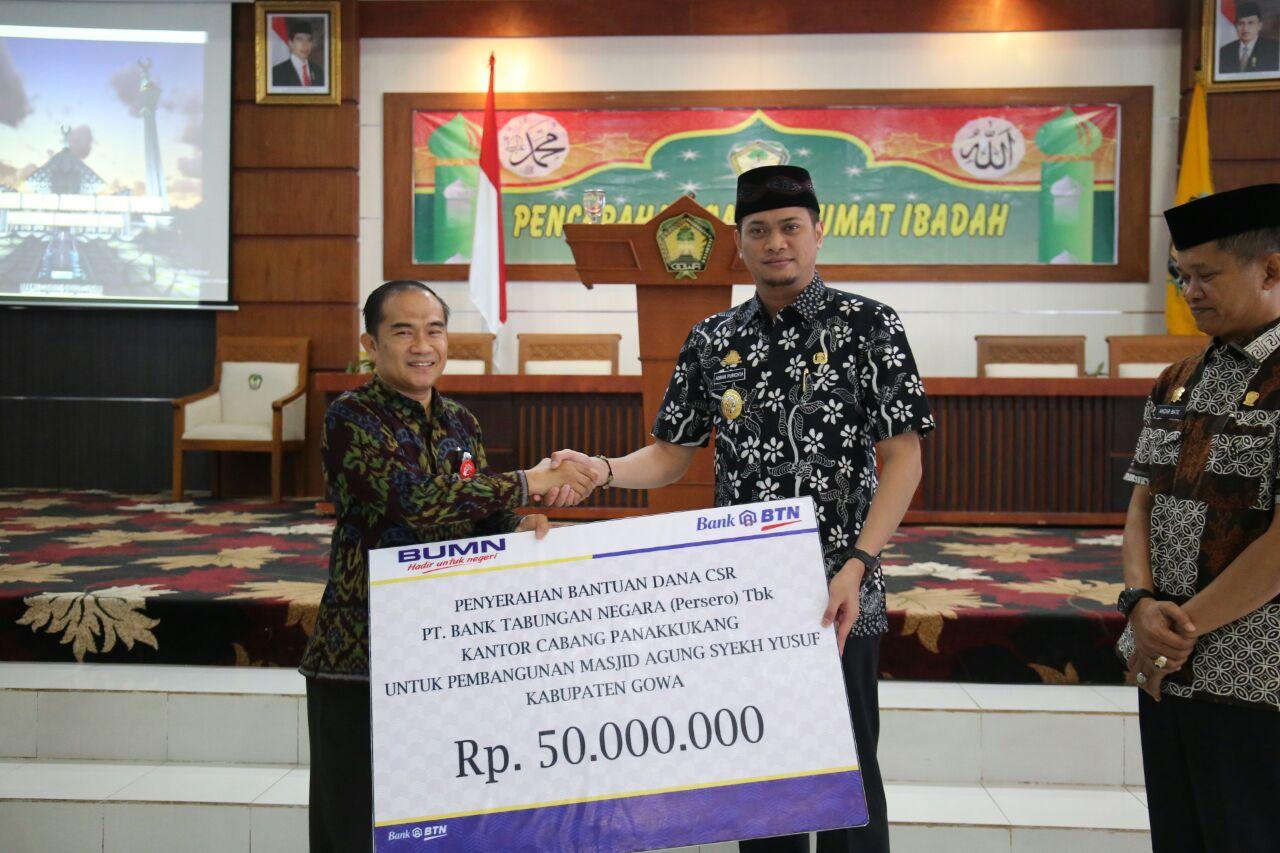 Masjid Agung Syekh Yusuf Terima Bantuan CSR Bank BTN
