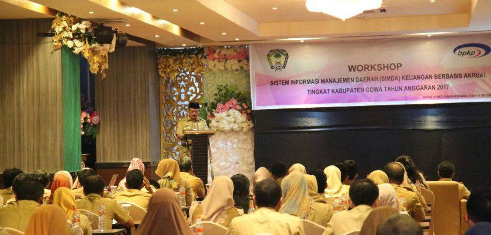 Wabup Buka Workshop SIMDA Keuangan Berbasis Akrual