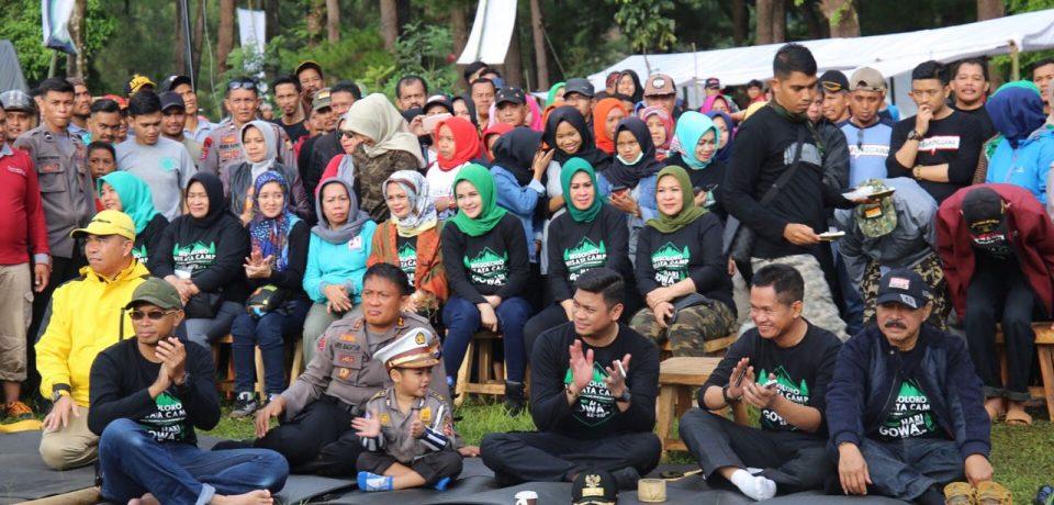 Camping Day Pemkab Gowa Resmikan Bissoloro Destinasi Wisata Baru