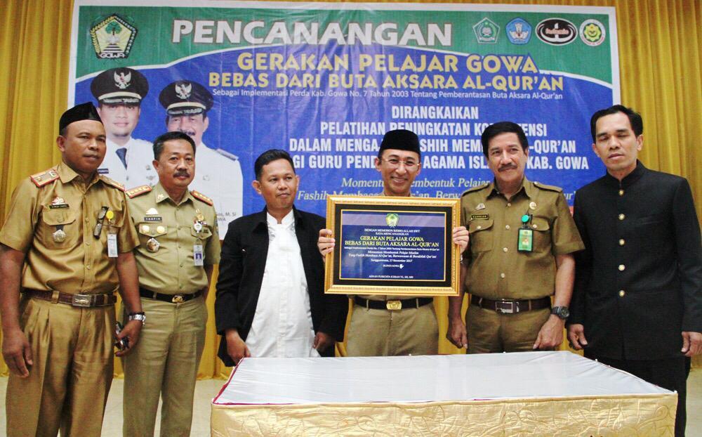 Pemkab Gowa Canangkan Pelajar Bebas Buta Aksara Al-Quran