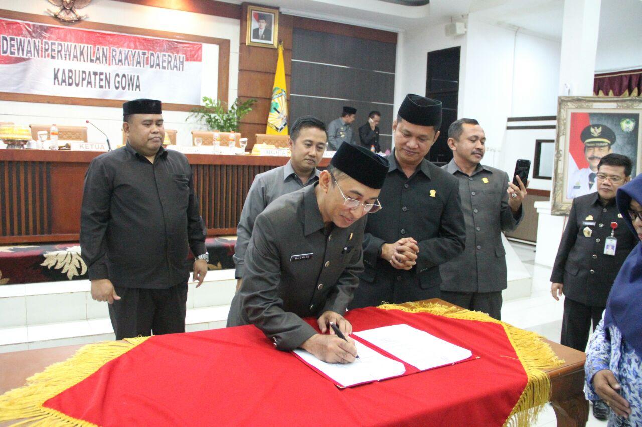 Dewan Sahkan Perda APBD Kabupaten Gowa TA 2018