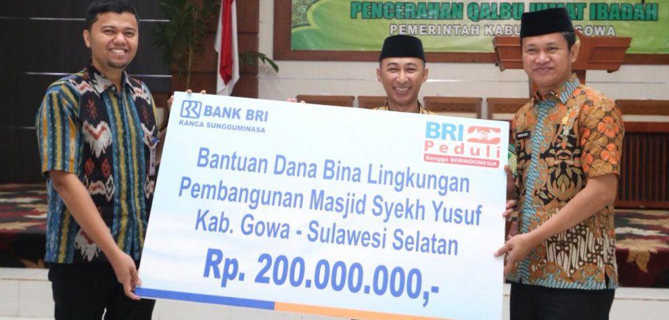 Masjid Agung Syekh Yusuf Terima Bantuan Rp 250 Juta dari BRI