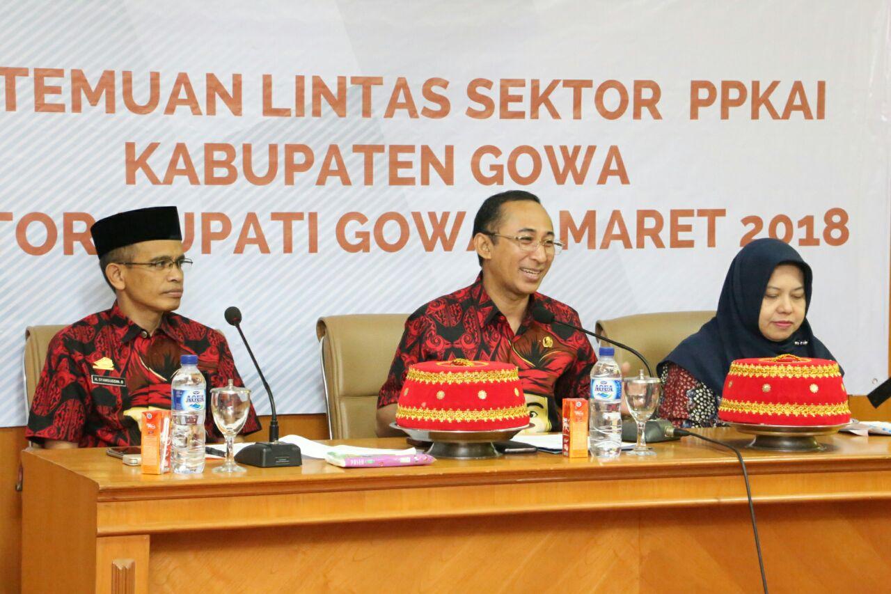 Sekda Gowa Buka Pertemuan Koordinasi Lintas Sektor PPKAI