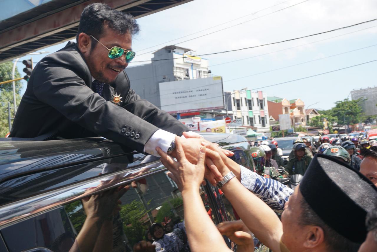 Diakhir Jabatannya, Ribuan Masyarakat Gowa Sambut SYL