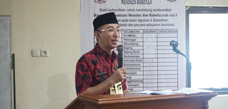 Imunisasi MR di Kabupaten Gowa Ditarget 208.925 Anak