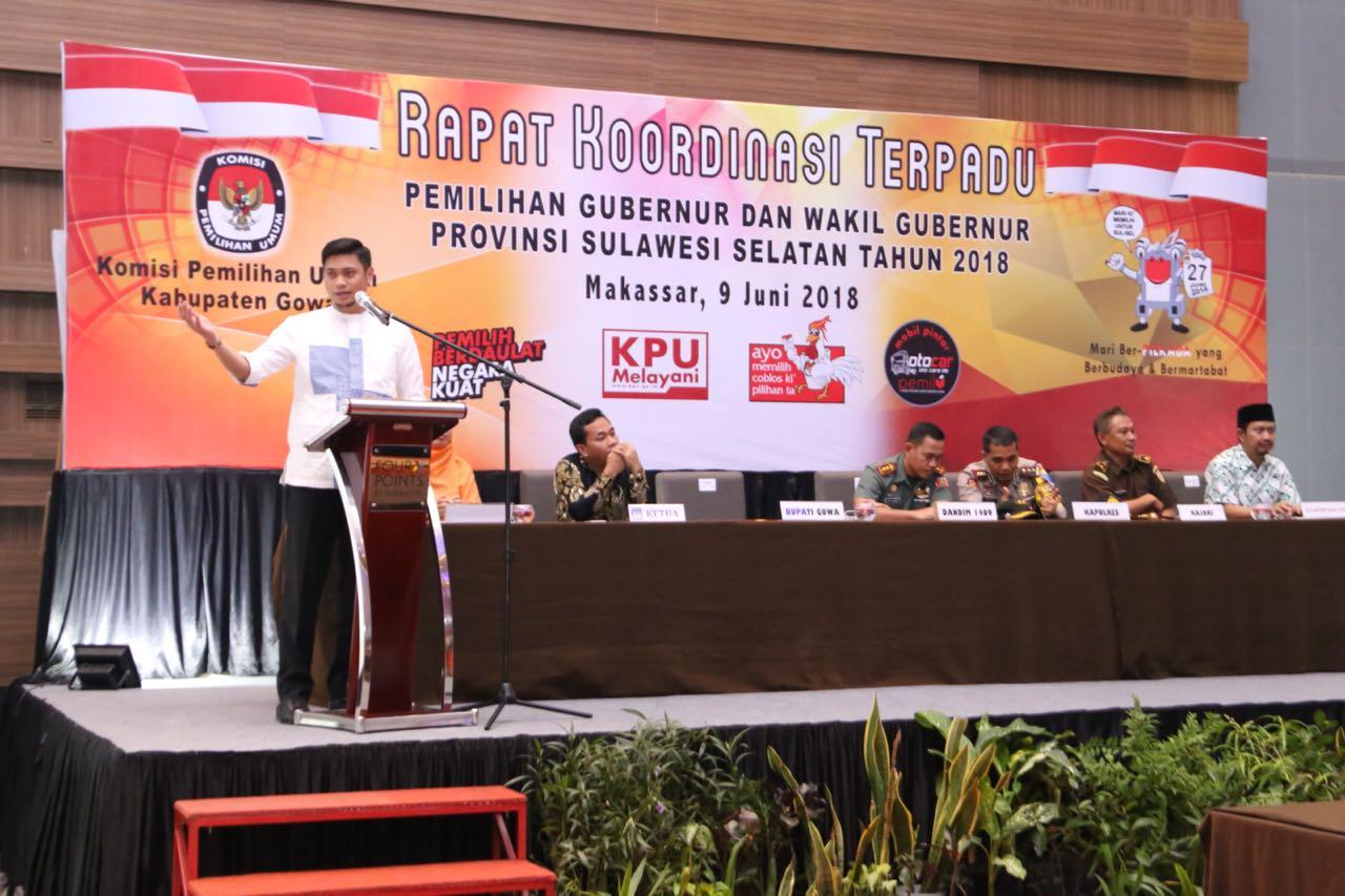 KPU Gowa Gelar Rapat Koordinasi Terpadu, Ini Kata Adnan