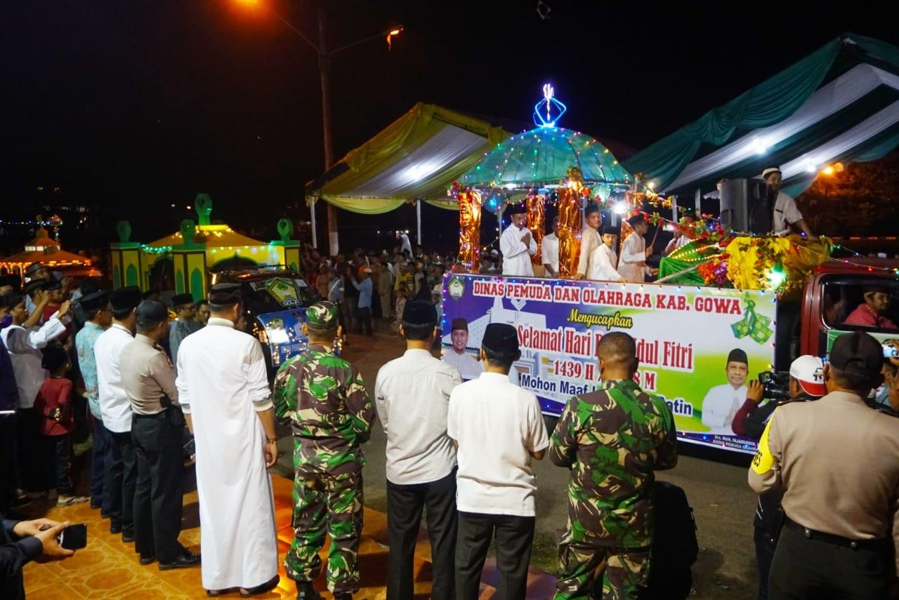 Malam Takbiran, Kabupaten Gowa Gelar Lomba Pawai Kendaraan Hias