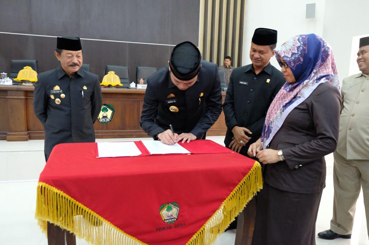 APBD – Perubahan TA 2018 Kabupaten Gowa Disahkan