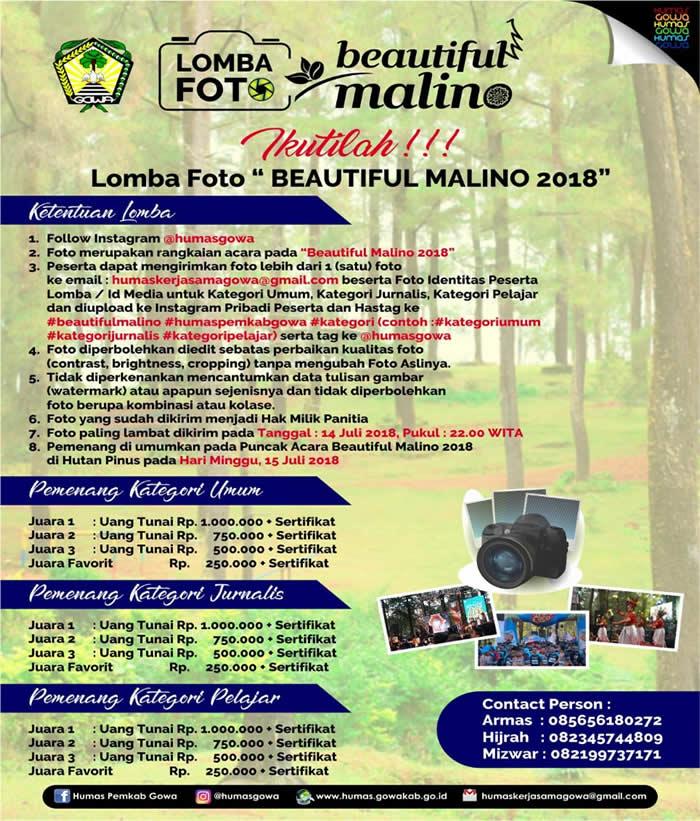 Ikuti Lomba Foto Beautiful Malino 2018