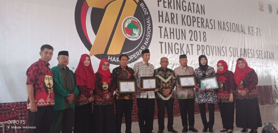 Kabupaten Gowa Raih Empat Penghargaan Sekaligus Dibidang Koperasi