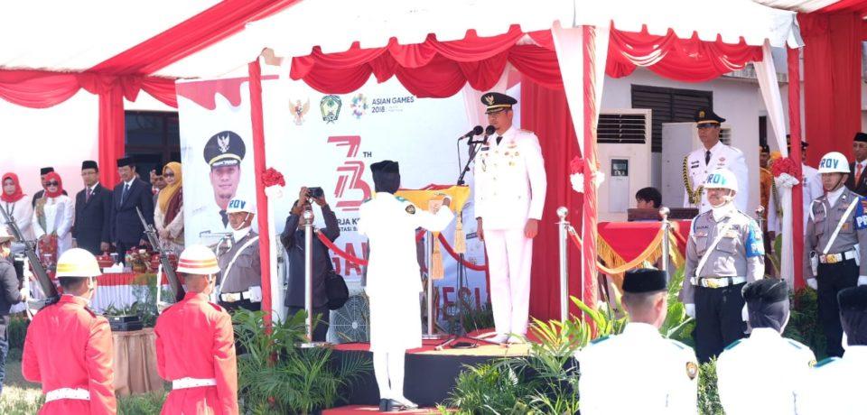 Detik-Detik HUT Proklamasi Kemerdekaan RI Ke-73 di Gowa
