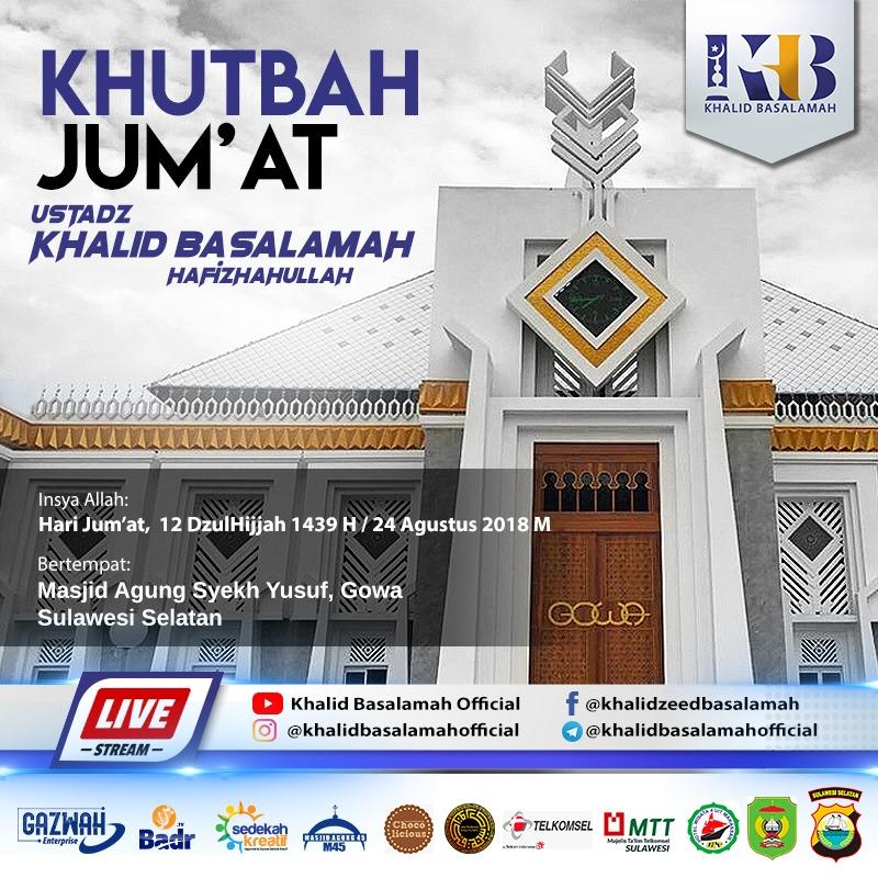 Ustad Khalid Basalamah akan Bawakan Khutbah Jumat di Masjid Agung Syekh Yusuf