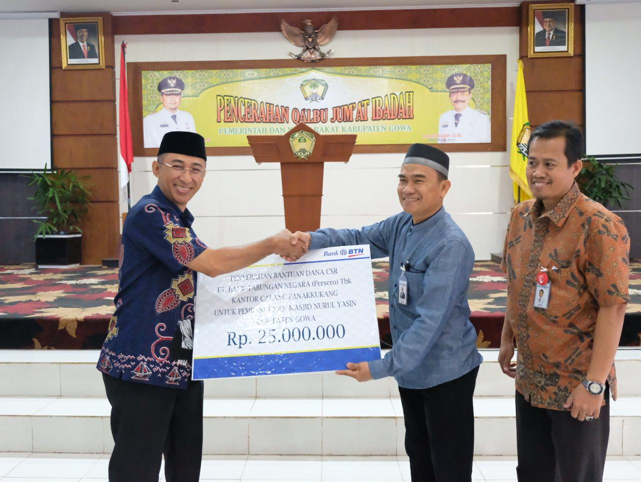 Masjid Nurul Yasin Kantor Bupati Gowa Dapat Bantuan CSR Rp 25 Juta