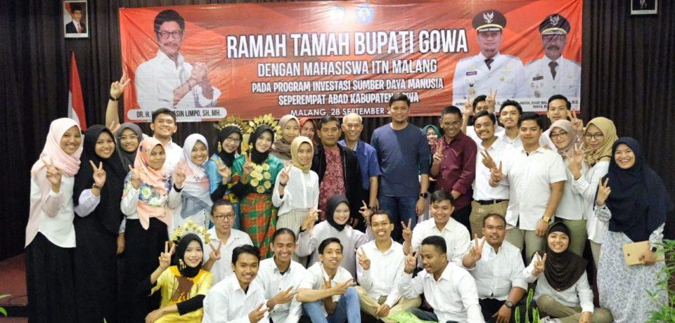 Bupati Ramah Tamah dengan Mahasiswa ITN Malang Program Investasi SDM Seperempat Abad