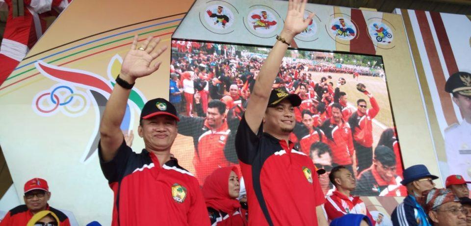 Adnan Hadiri Pembukaan Porda XVI di Pinrang