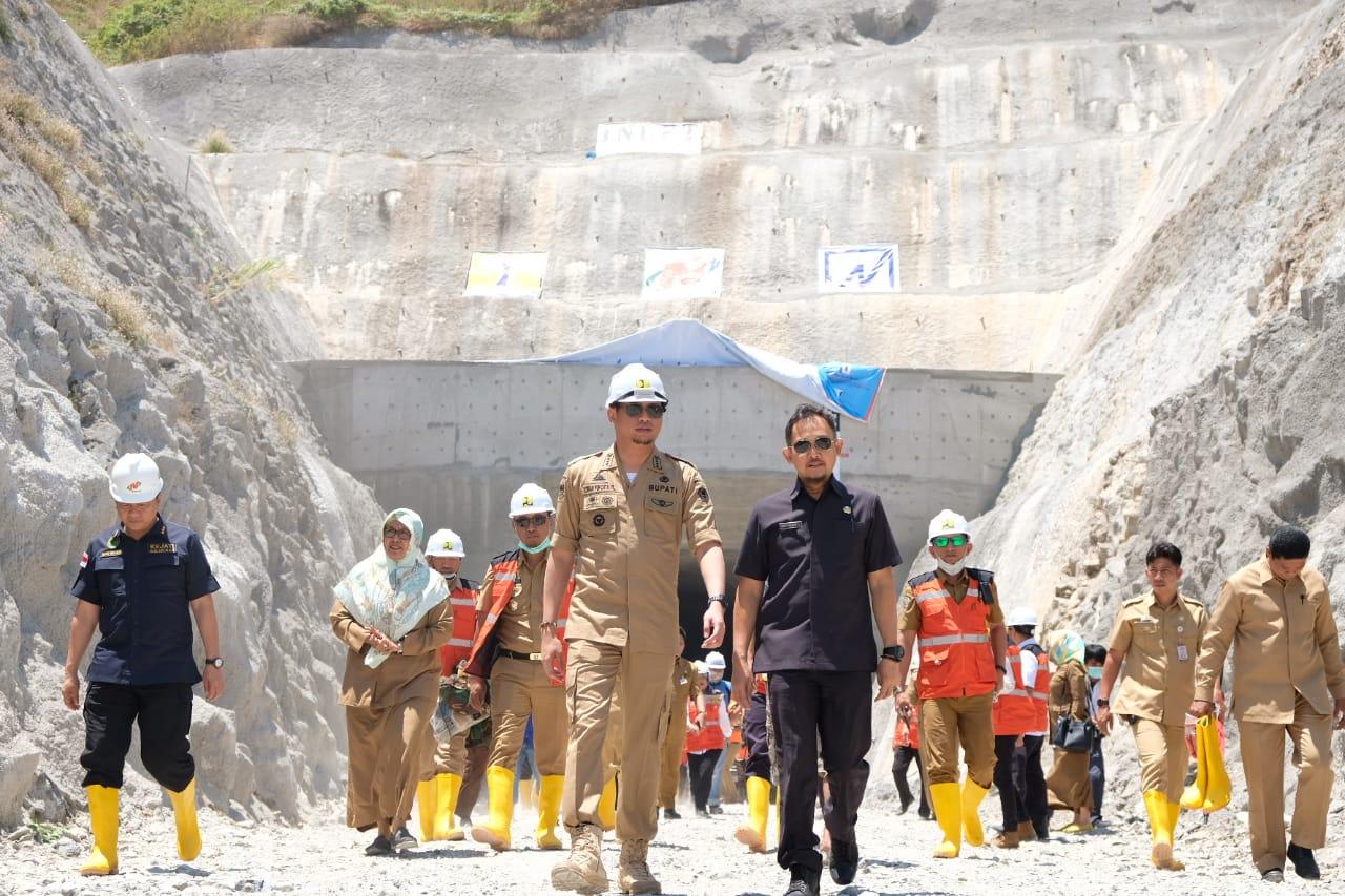 Hadiri Pengalihan Aliran Sungai Bendungan Karalloe, Adnan: Sudah Saatnya diBangun Bendungan Untuk Masyaraat Gowa