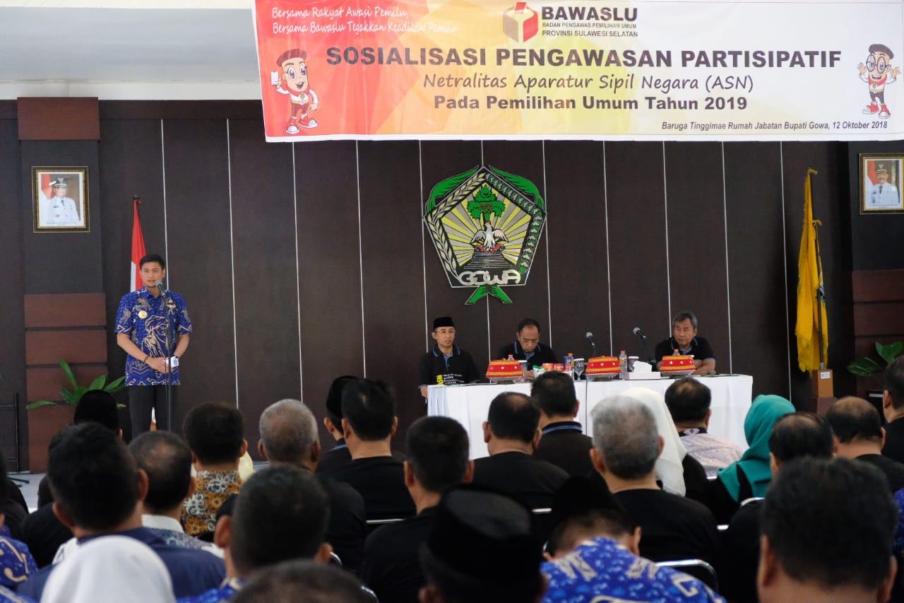 Gowa jadi Contoh Pelaksanaan Deklarasi Netralitas ASN di Sulsel