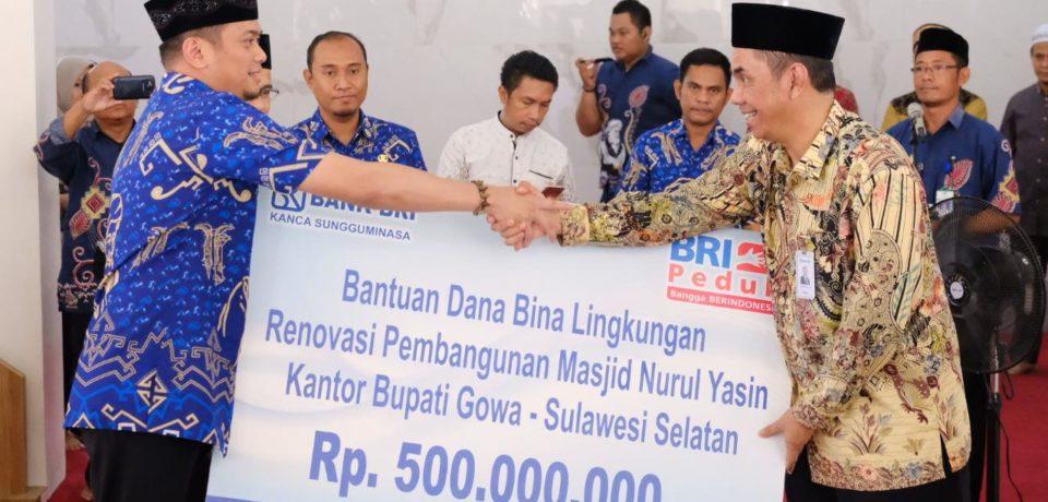 Masjid Nurul Yasin dapat Kucuran Dana CSR dari BRI Makassar Rp 500 Juta