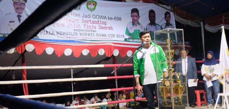 Buka Kejuaraan Tinju, Adnan: Majunya Pertina Harus dimulai di Kabupaten Gowa