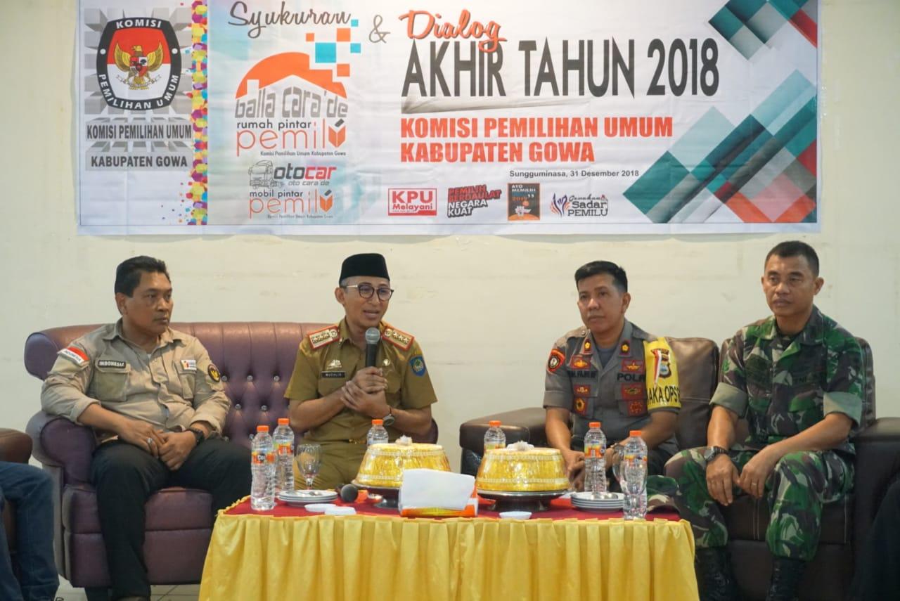 KPU Gowa Gelar Dialog Akhir Tahun Pemilu 2018