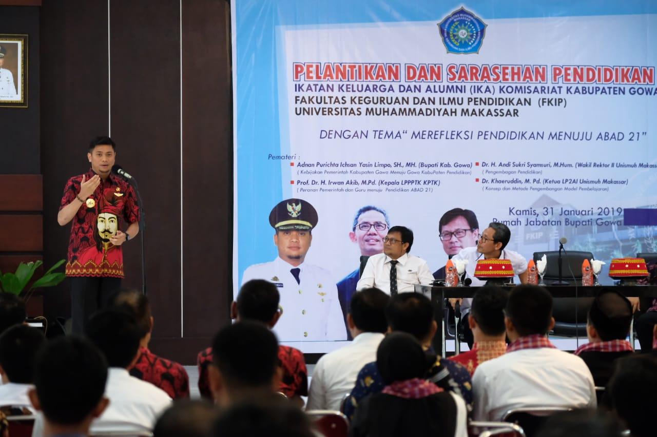 Adnan Paparkan Pendidikan di Gowa dihadapan IKA FKIP Unismuh Makassar