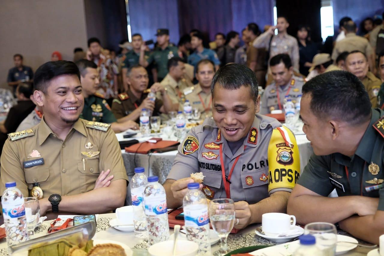 Adnan Bersama Forkopimda Gowa Hadiri Rakornas Jelang Pemilu 2019
