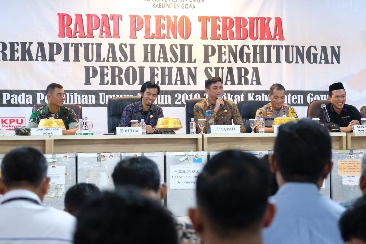 Adnan Buka Rapat Pleno Terbuka KPU Gowa