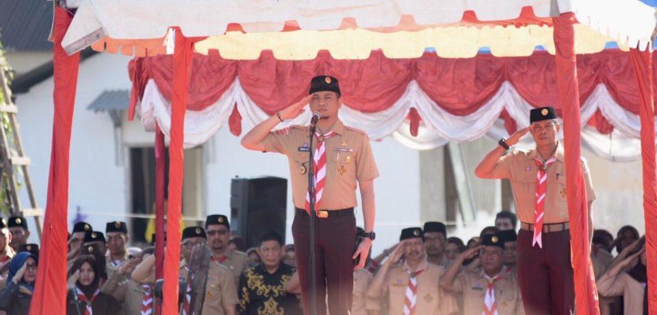 Bupati Adnan Tegaskan Anggota Pramuka Harus Dididik Jadi Insan Berkarakter