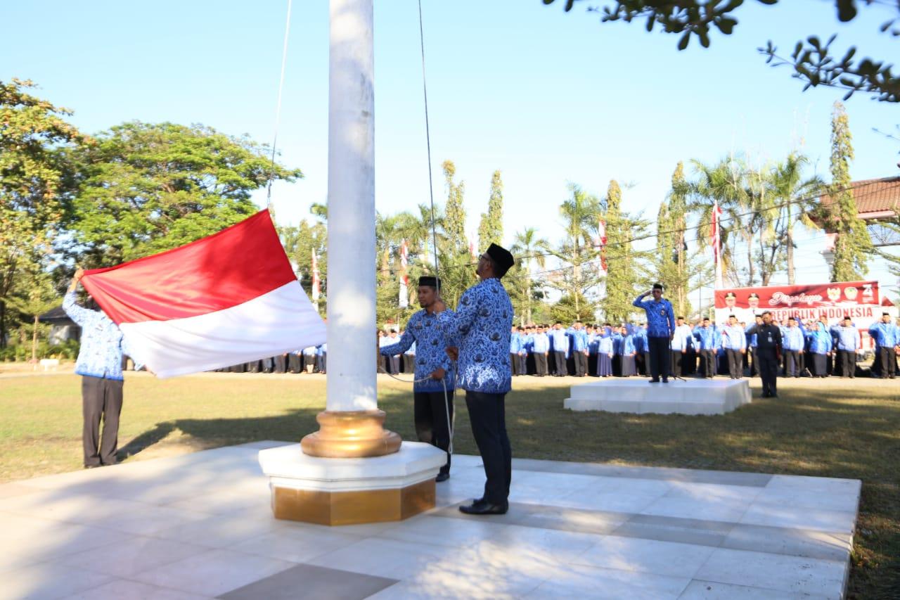 ASN Pemkab Gowa Peringati HUT Proklamasi Ke-74 RI