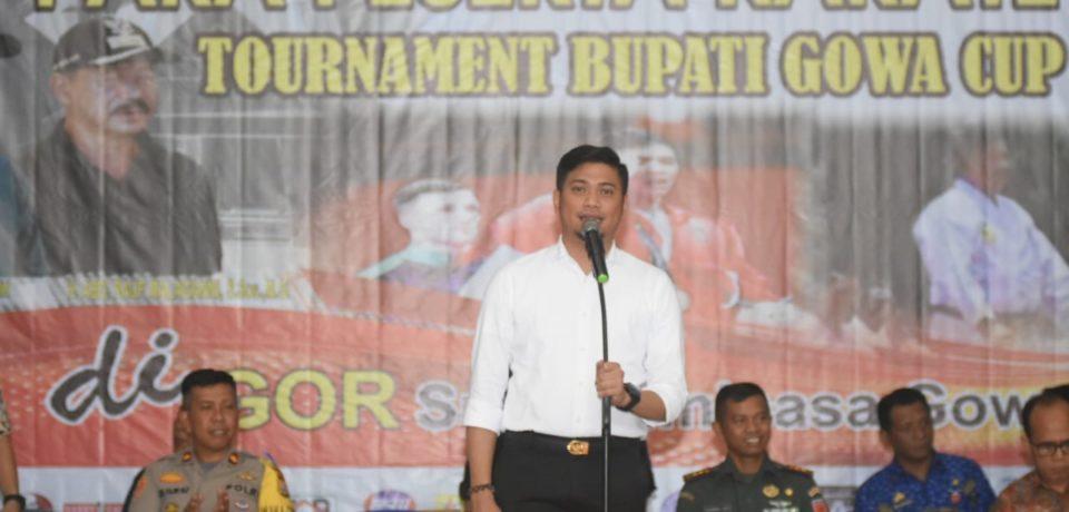 769 Karateka Ikuti Turnamen Karate Bupati Gowa Cup