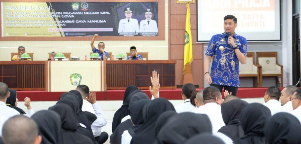 Adnan Beberkan Tiga Indikator Kecerdasan Dihadapan 149 CPNS Gowa